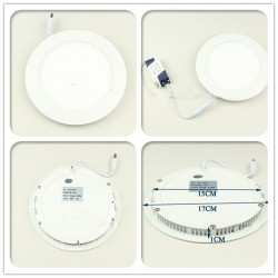 LED Panel Ceiling Lights 12W 860lm AC85-265V