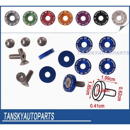 JDM Style Fender Washers Bumper Washer License Plate Bolts Kits.
