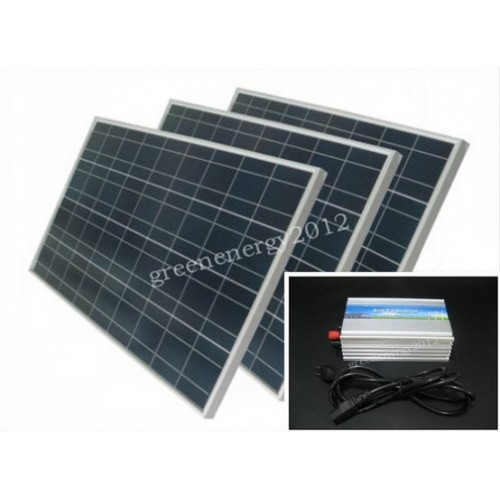 300W On grid solar panel system kit