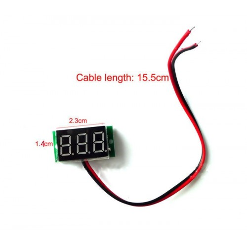 Mini digital volt meter 2.5-30V