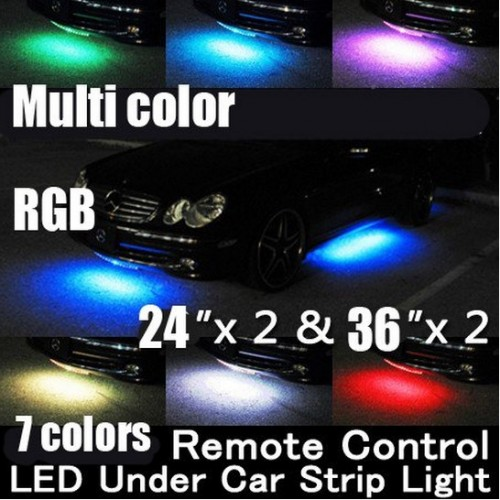 Wiress Remote Multi-Color Under Car LED