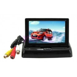 Foldable Car Color Monitor 4.3 inch 2 VDO Channel