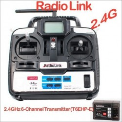 RadioLink T6EHP-E 2.4G 6Ch 6 channel RC Controller Transmitter and Receiver
