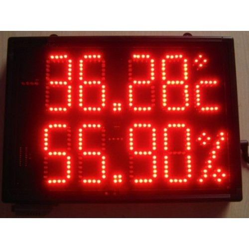 Large size indoor temperature and humidity led display