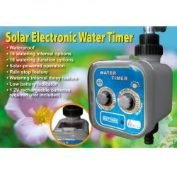 Solar electronic water timer