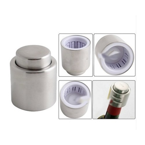 Sealing Stainless Steel Vacuum Sealed Wine Bottle Stopper