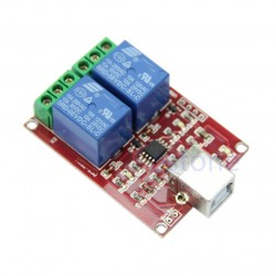 2 Channel USB Relay Controller Module
