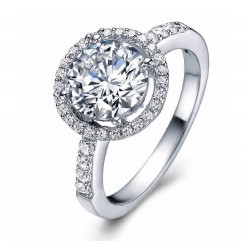 2.5 Carat 925 Sterling Silver CZ Diamond Zircon the Rings