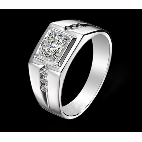 High Quality CZ Diamond 100% genuine 925 pure Sterling Silver rings
