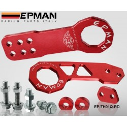 EPMAN Anodized Billet Aluminum Front+Rear Tow Hook Kit for universal car