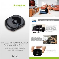 Bluetooth V3.0+EDR Music Audio Receiver and Transmitter 2in1