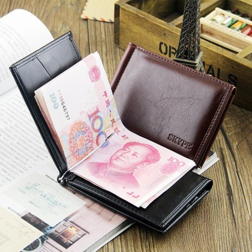 Men Genuine Leather wallet and Credit Card Holder