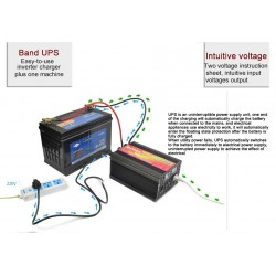 3 in 1 Battery Charger UPS and Inverter for car and home
