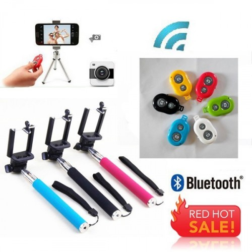 Selfie Kit Handheld  Protable Monopod Telescopic + Bluetooth Remote