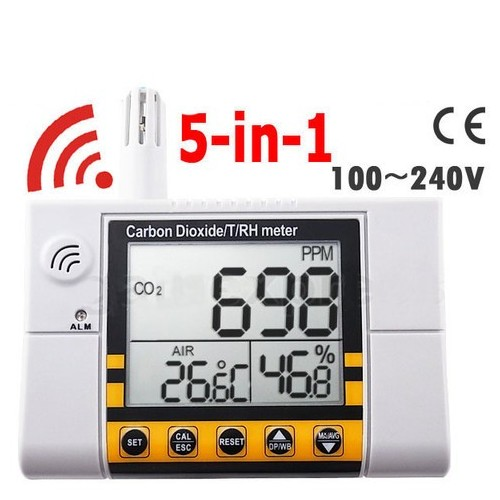 Digital Wall Mount Indoor Air Quality Temperature RH Carbon Dioxide CO2 Monitor