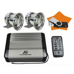 600W car siren with microphone 20 sounds with MP3 player