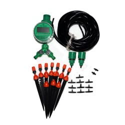 20m drip irrigation tubing nozzles timer controller System Kit