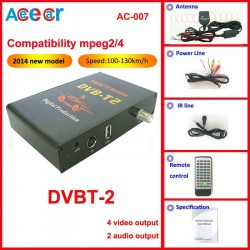 Car DVB-T2 set Support Speed 100-130km/h
