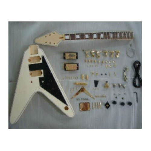 Flying V style electric guitar kit (Gold plating)