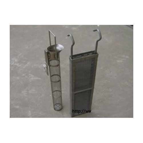 Titanium anode basket for electroplating