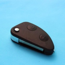 Alfa Romeo 2-button flip remote key shell for 147 156 166