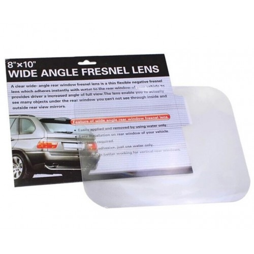 Wide angle fresnel lens for car parking reversing