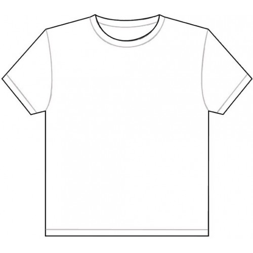 High Quality Short-sleeved O-Neck Blank T-shirt All Sizes