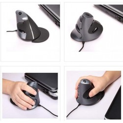 Healthy Adjustable Grip Up-right Vertical Mouse 1000/1600/2400DPI