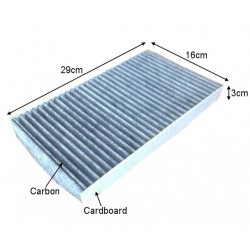 CUK2951 black carbon car cabin air filter for Alfa Romeo 60653641 auto part 29*19*6cm