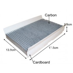 CUK18202 car black carbon cabin air filter for Alfa Romeo 46799653 auto part 17.5*13.9*2.9cm