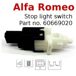 Stop light switch ALFA ROMEO auto part no. 60669020 46840510