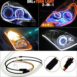 Flexible Strip DRL Dual Color Yellow and White Switchback