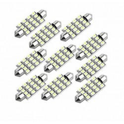 39mm Car Interior Dome Festoon 16 3528-SMD Pure White LED Light