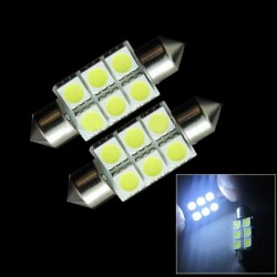 10pcs Car Dome Festoon 36mm 3W 270lm 6 SMD 5050 LED