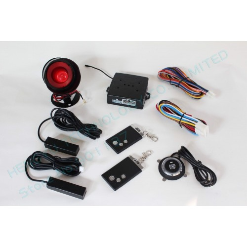 Engine Remote and Push Start/Stop button with PKE car alarm system