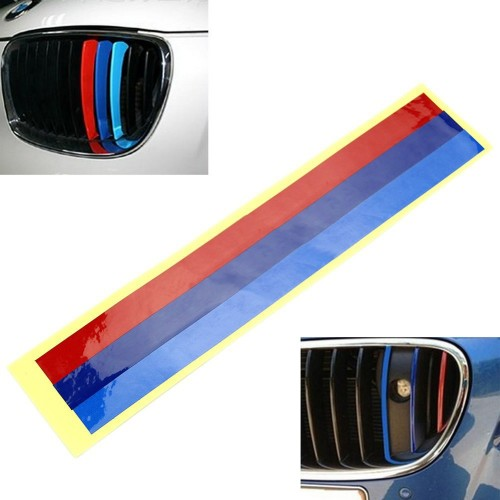 Grille 3Color Vinyl Strip Sticker Decal For BMW M3 M5 E36 E46 E60 E90 E92 NEW