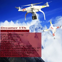 Auto-Pathfinder RC Quadcopter Dreamer 1th Quadricopter Ar.Drone GPS 6-Axis GYRO FPV VS Walkera QR X350 Pro DJI Phantom