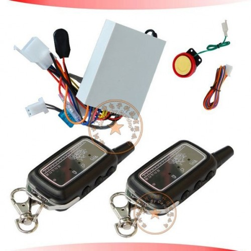 2 Way Motorcycle Alarm, Remote start, Auto arming,  Anti cut wire,  Shock sensor sensitivitity adjustment