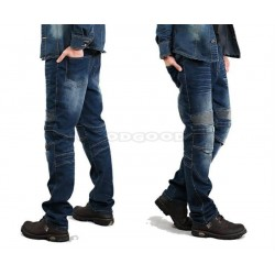 DUHAN Men Knee Protective Moto Jeans