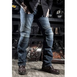 RPMCN Locomotive jeans With knee protector Rider pants