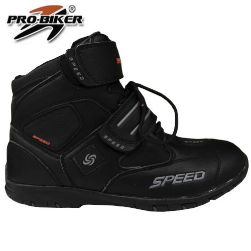 Leather Shoes for men women Motorcycle Boots Pro-biker