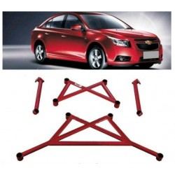 Front and Rear Lower Tie Bar For Chevrolet Cruze