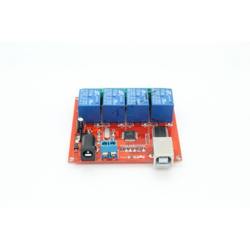 4 Channel 12V USB Relay Programmable Computer Controller Module