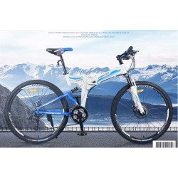 Aluminum Alloy Folding Frame Mountain Bike 24 Speed 26 Inch
