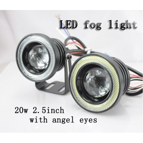 20W Fog Light LED Angel Eyes