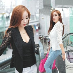 Long Sleeve Lace Embroidery Crochet Small Jacket