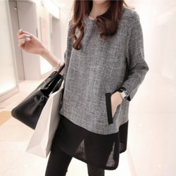 Casual Quarter Sleeve O-Neck Dress
