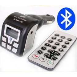 MP3 Player, Bluetooth-FM Transmitter and hands-free supported USB/SD Card