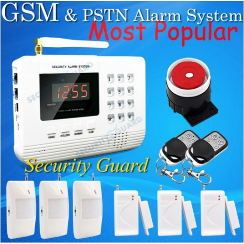 Wireless Home Burglar PSTN GSM Alarm System