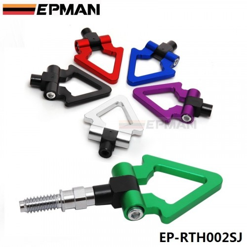 Racing Billet Aluminum Triangle Ring Tow Hook Front Rear For European Car